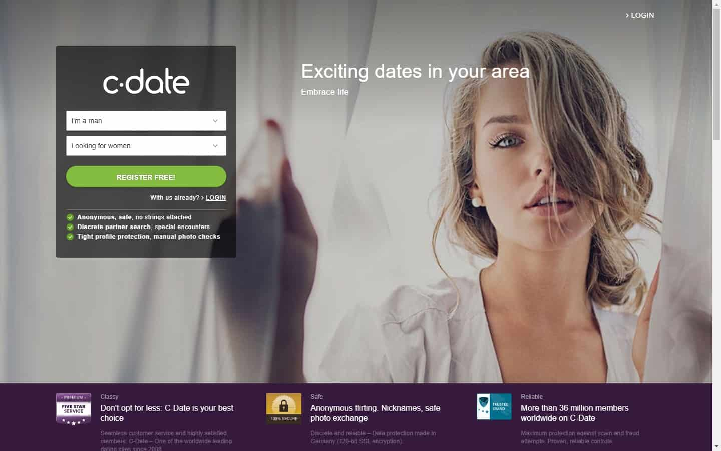 Test winner: C-Date - Casual Dating