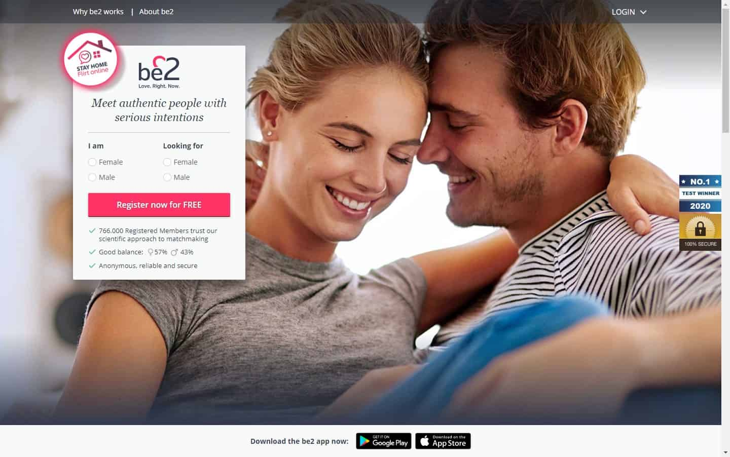 Test winner: Be2 - Casual Dating